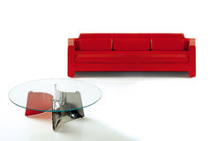 Rotes Sofa Stockbild