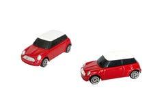 Rotes Spielzeugauto Stockfotos