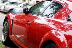 Rotes Sport-Auto Stockfoto
