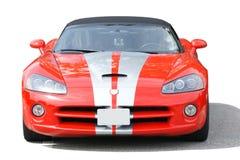 Rotes Sport-Auto getrennt Stockfotografie