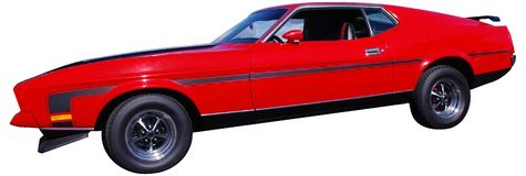 Rotes Sport-Auto getrennt stockfoto