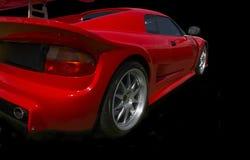 Rotes Sportauto Stockbild
