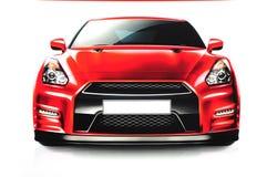 Rotes Sportauto Lizenzfreie Stockfotografie