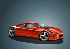 Rotes Sportauto Stockfotos