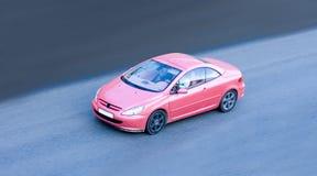 Rotes Sportautoteil einer Reihe Autos Lizenzfreies Stockbild