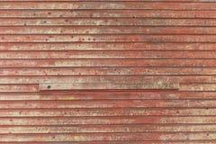 Rotes Stall-Abstellgleis Stockfotografie