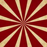 Rotes Starburst auf einem Retro- Hintergrund Stockfotos