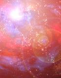 Rotes Starscape Stockbild