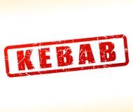 Rotes Stempeldesign des Kebabs Stockfotografie