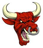 Rotes Stiermaskottchen Lizenzfreie Stockbilder
