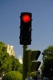 Rotes stopligth Stockbild