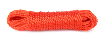 Rotes synthetisches starkes des Seils Stockfoto