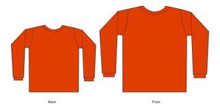 Rotes T-Shirt stockbild