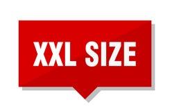 Rotes Tag Xxl-Größe lizenzfreie abbildung