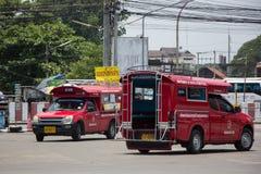 Rotes Taxi Chiang Mai, für Passagier vom Busbahnhof Lizenzfreies Stockbild