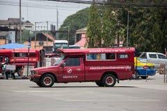 Rotes Taxi Chiang Mai, für Passagier vom Busbahnhof Lizenzfreie Stockfotos