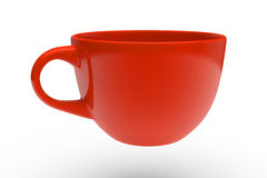 Rotes Tee-Cup Stockbilder