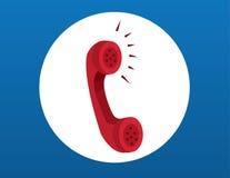 Rotes Telefon lizenzfreie abbildung