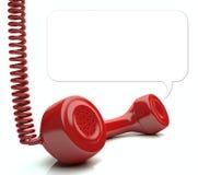 Rotes Telefon Stockbild