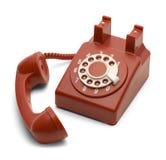 Rotes Telefon weg vom Haken Lizenzfreie Stockfotos