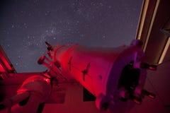 Rotes Teleskop Stockbild