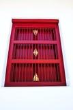 Rotes thailändisches Artfenster Stockfoto