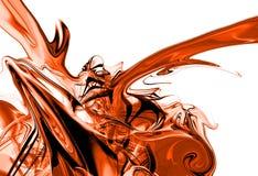 Rotes Tintenspritzen Stockbild