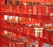 Rotes Tor an der Grafschaft Stockfotografie