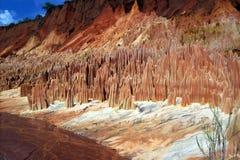 Rotes Tsingy. Stockfoto