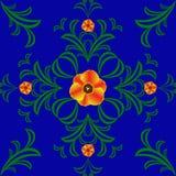 Rotes Tulpengelb der grünen Musterabstraktionsvektorgrafik Stockbild