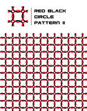 Rotes u. schwarzes Kreis-Muster stockfoto