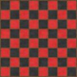 Rotes u. schwarzes Schachbrett Lizenzfreies Stockbild