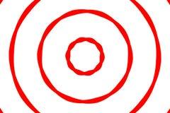 Rotes u. weißes Ziel Lizenzfreies Stockbild