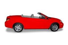 Rotes umwandelbares Auto Lizenzfreie Stockbilder