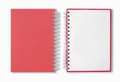 Rotes unbelegtes Anmerkungs-Buch Lizenzfreies Stockbild