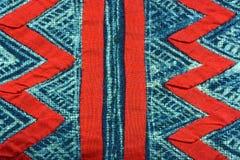 Rotes und blaues Gewebe Stockfotos