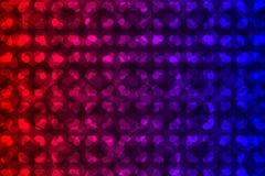 Rotes und blaues Herzvektormuster Lizenzfreie Stockbilder