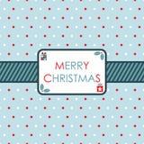 Rotes und blaues Weihnachten Stockfotografie