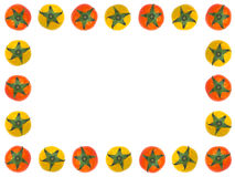 Rotes und gelbes Tomate-Feld Stockfotografie