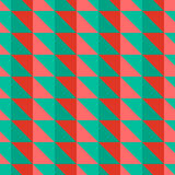 Rotes und grünes abstraktes Muster mit Dreiecken Lizenzfreies Stockbild