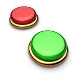 Rotes und grünes botton Stockbilder