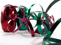 Rotes und grünes Farbband Stockfotografie