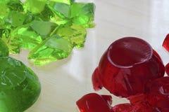 Rotes und grünes jello Lizenzfreie Stockfotografie