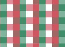 Rotes und grünes klassisches Kontrollmuster Stockfotografie