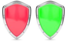 Rotes und grünes Schild Lizenzfreies Stockbild