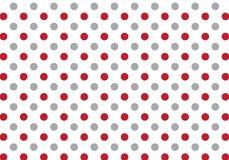 Rotes und graues Punktmuster auf weißem Hintergrund Stockbild