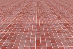 Rotes und rosa keramisches Mosaik Stockbilder
