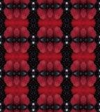 Rotes und schwarzes abstraktes Muster benutzt als Hintergrund-Beschaffenheit Lizenzfreie Stockfotografie