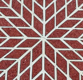 Rotes und weißes Mosaikmuster Lizenzfreie Stockfotos