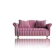 Rotes und weißes Sofa Stockfoto